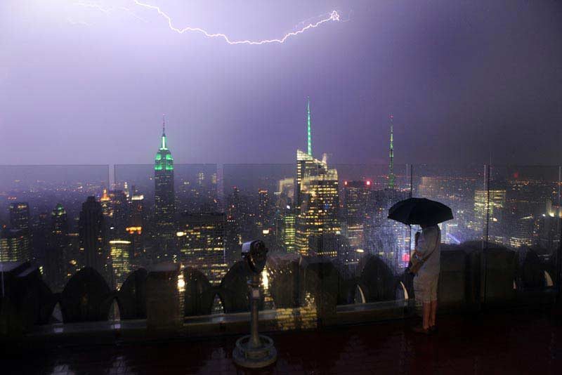 Lightning storm and the Empire State Building