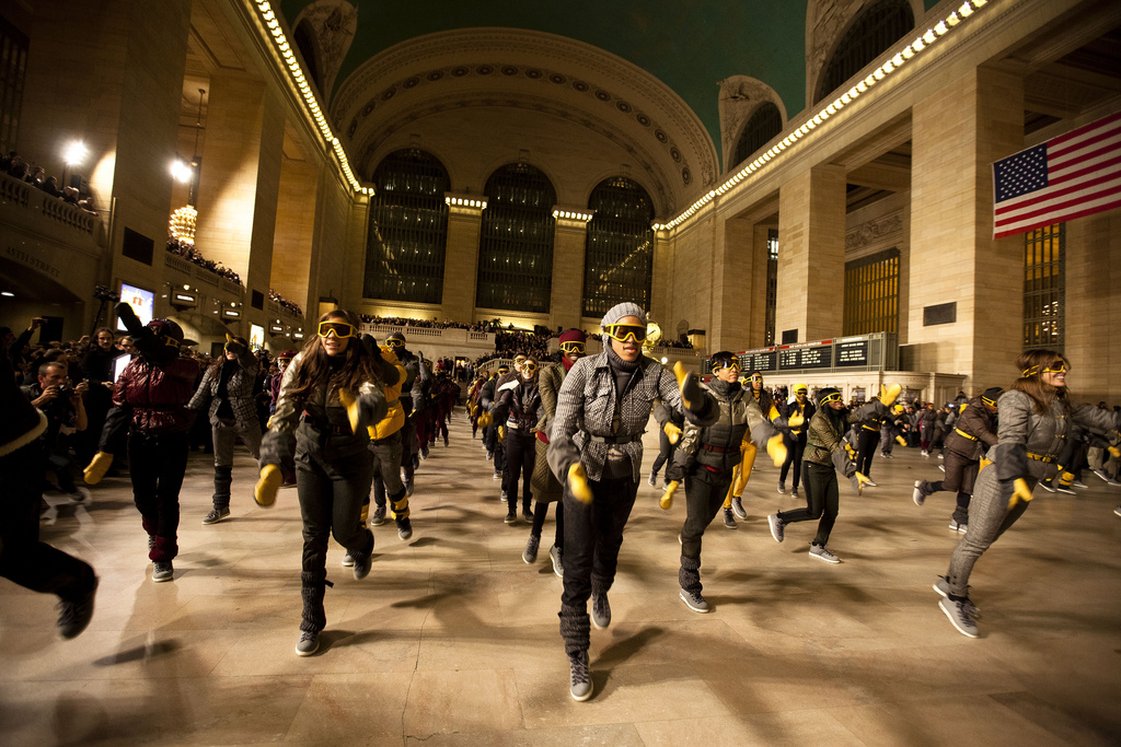 Grand Central Moncler NYFW Flash Mob Dancin