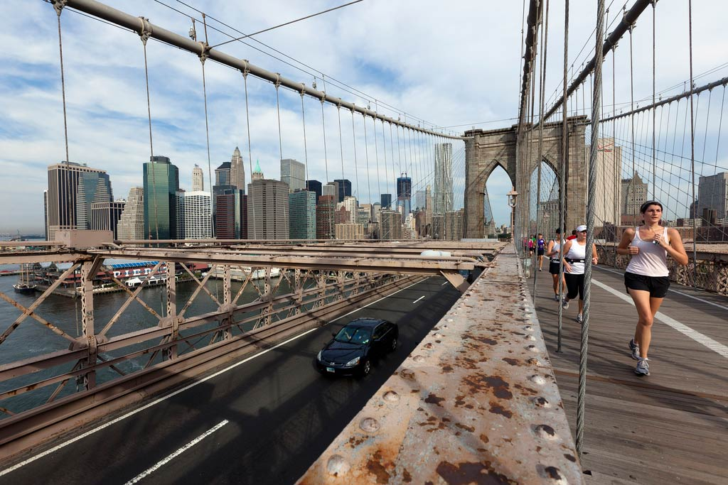 Brooklyn Bridge, during Summer Streets