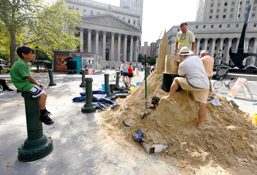 Sand Castles for Summer Streets NYC